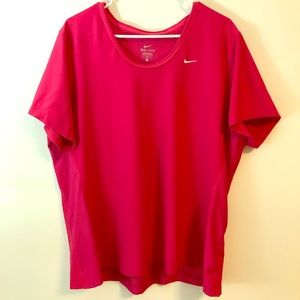 Nike Dri-Fit Top, Pink, Short-Sleeved, 1X